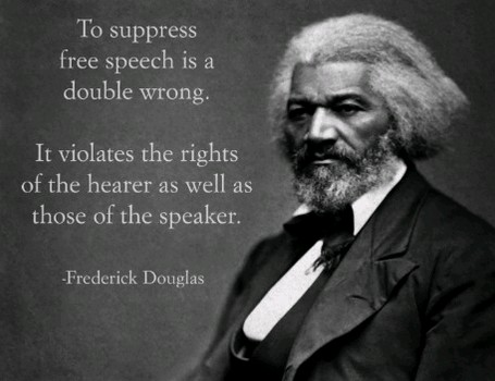 can freedom of speech be suppressed Hypothesize that freedom of speech can be employed as a justification for prejudice—these firings suppress the expression of prejudice, and prejudiced people will marshal freedom of speech to combat that suppression.