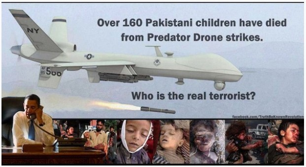 obama drones kill children